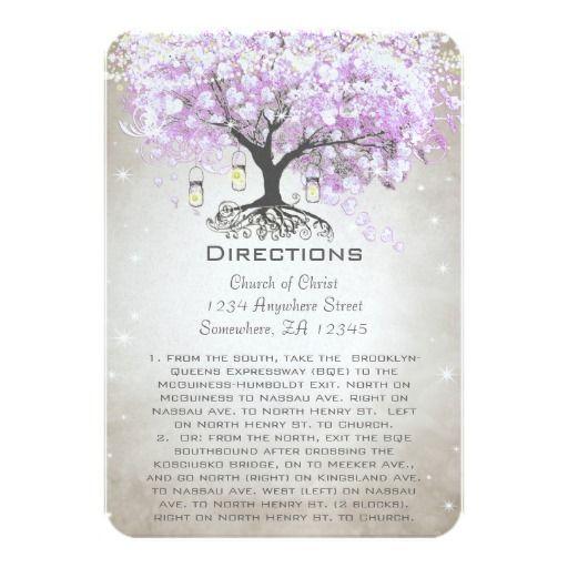 Mason Jar Radiant Lavender Wedding Direction Cards