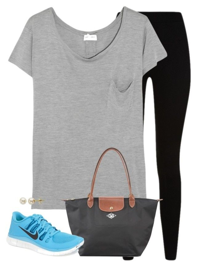 """""""lazy class day"""" by tex-prep ❤ liked on Polyvore featuring Givenchy, Yves Saint Laurent, Longchamp, NIKE and Lord & Taylor"""