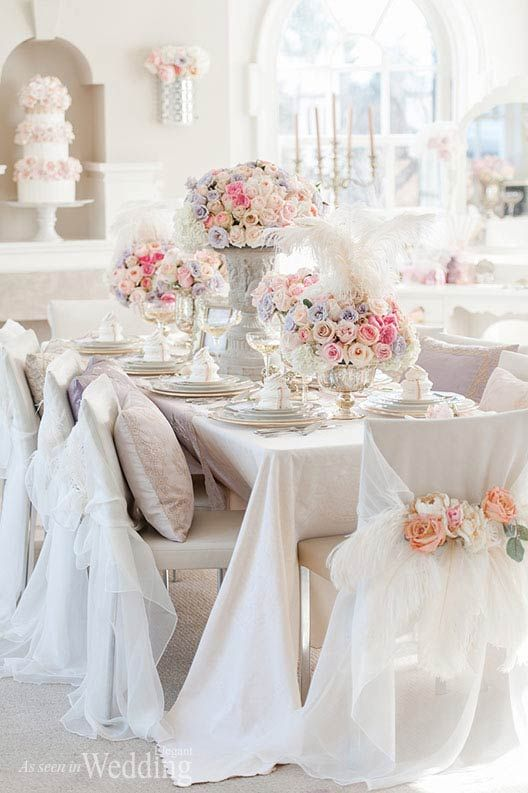 Krista Fox Photography   Florist, Producer, Concept Creator & Stylist: Paige Lewis Events   Linens & Chair Capes: Have A Seat Inc.   Tableware: William Ashley China