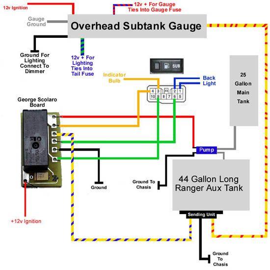 100 Series Landcruiser Sub Tank Wiring Diagram:  80/105 Landcruiser ,Design