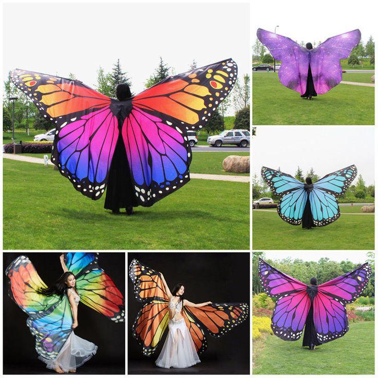 Damen NEU 360 Grad Bauch Tanz Schmetterling Wings Kostüm Fee tanzende Zubehör | Sport, Weitere Sportarten, Tanzen | eBay!