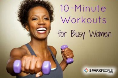 You don't have time not to try these workouts! 10 Ten-Minute Workout Ideas | via @SparkPeople #fitness #exercise