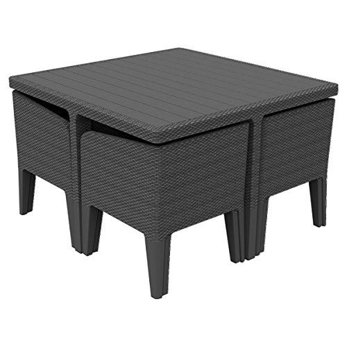 Keter Columbia Outdoor Garden Furniture Dining Cube Set---199.95---