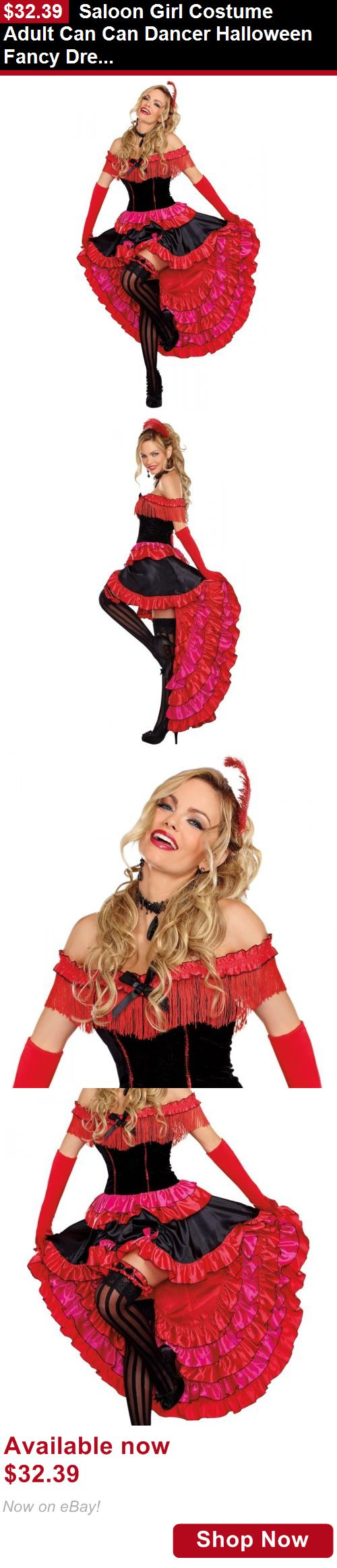 Costumes and reenactment attire: Saloon Girl Costume Adult Can Can Dancer Halloween Fancy Dress BUY IT NOW ONLY: $32.39