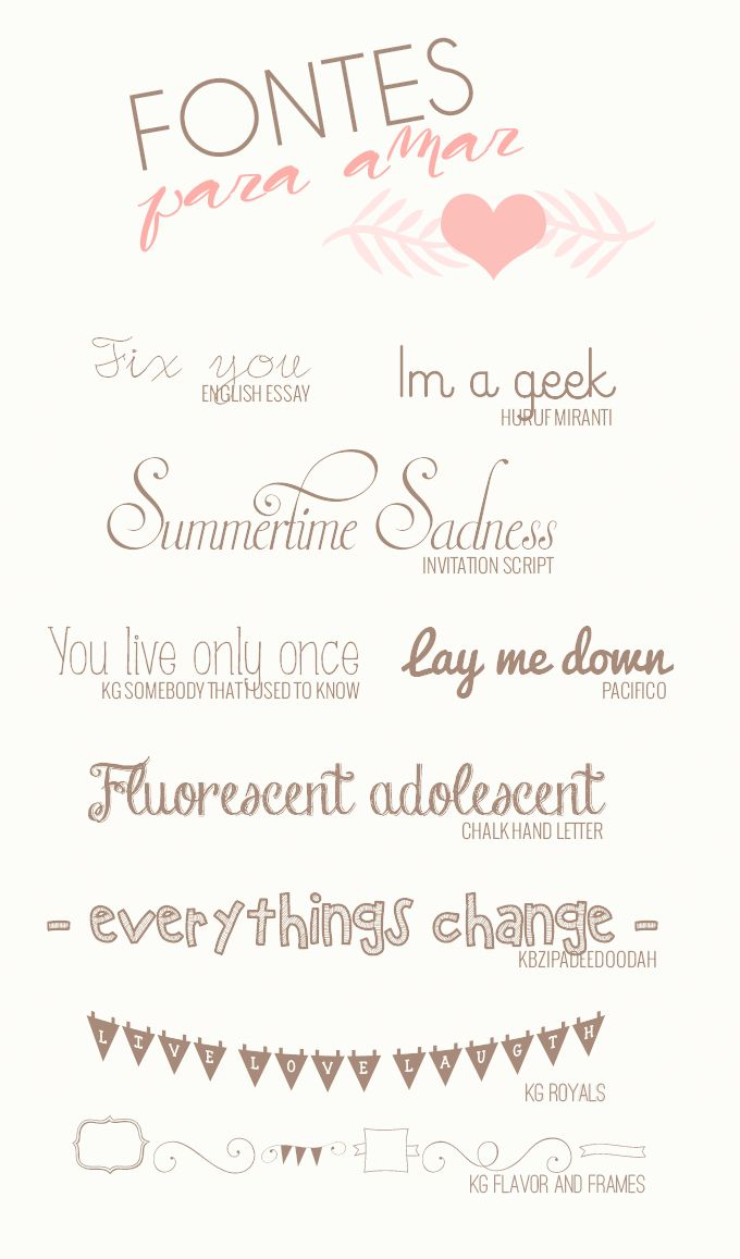 my favorite fonts fonts free