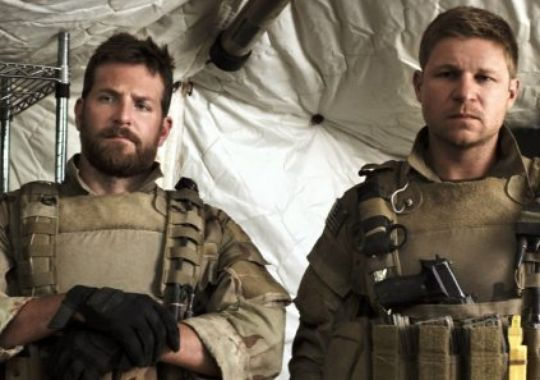 Bradley Cooper, left, and former SO1 (SEAL) Kevin Lacz,Fellow American sniper lauds movie as Chris' story