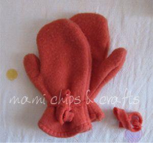 come fare guanti in pile per bambini