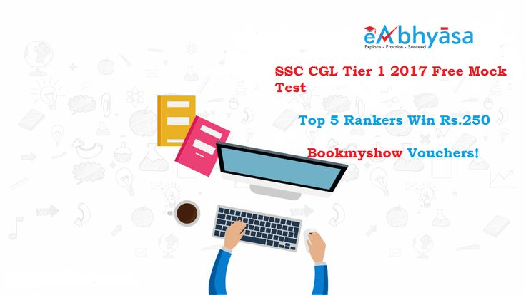 Take the eAbhyasa free mock test for #SSCCGL Tier 1 2017. Get national percentile, instant scores, detailed performance analysis reports. Join best SSC CGL 2017 online test series for Tier 1 and Tier 2 exam, based on the new pattern.  Test Link: https://www.eabhyasa.com/mockexam/staff-selection-commission/ssc-cgl-tier1-mocktest-july-2ndweek