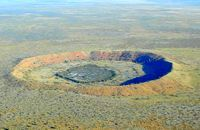 The Wolfe Creek meteorite crater. Australia. National Park