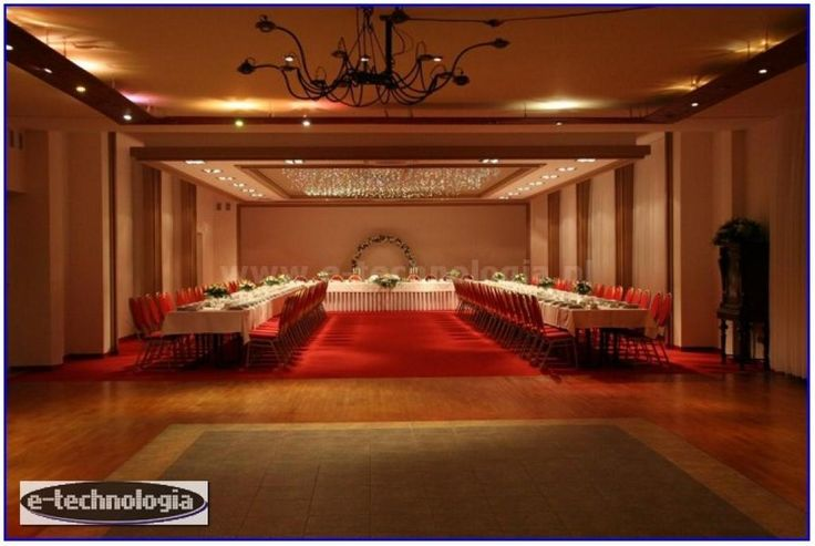 Decoration light - the night sky on the ceiling - the ceiling with stars - Lighting conference room lighting - banquet hall - lighting wedding hall www.e-technologia.pl