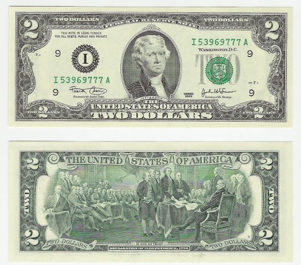 United States Two Dollar Federal Reserve Note
