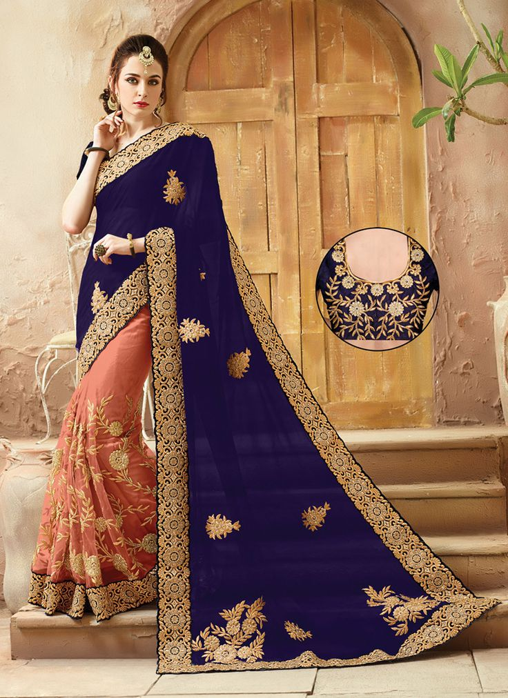 Indian Designs - Royal Blue Viscose Satin Saree, $175.00 (https://www.indiandesigns.com/royal-blue-viscose-satin-saree/)