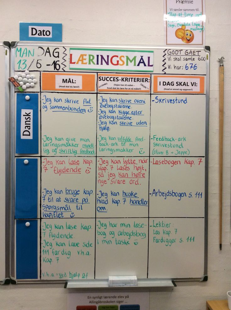 Dagens læringsmål i 3 klasse :-)