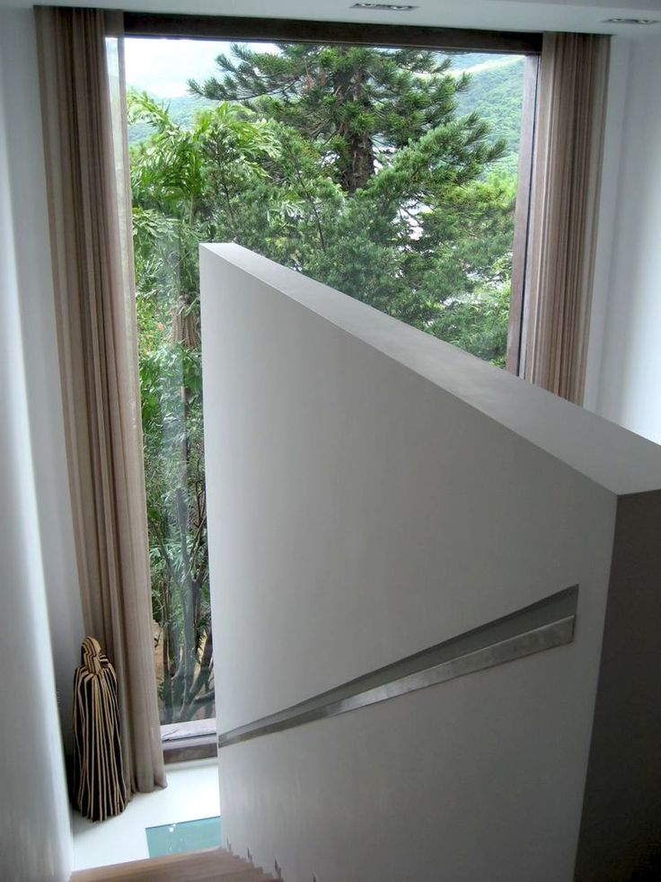 Hidden stair rail, great concept