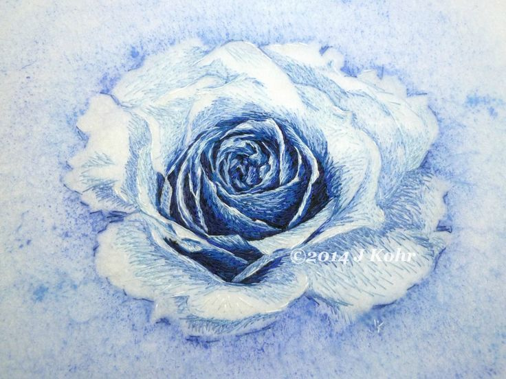 Print Photograph 4x6 of fiber art painting- The Electric Rose original embroidered painting SnappyTatter on Etsy