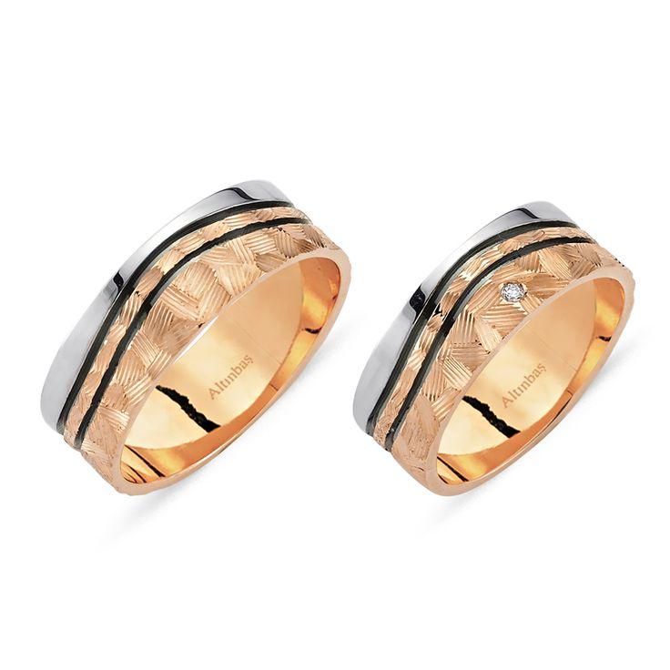 Altın I & U İkili Alyans  #alyans #altınbaş #evlilik #weddingring