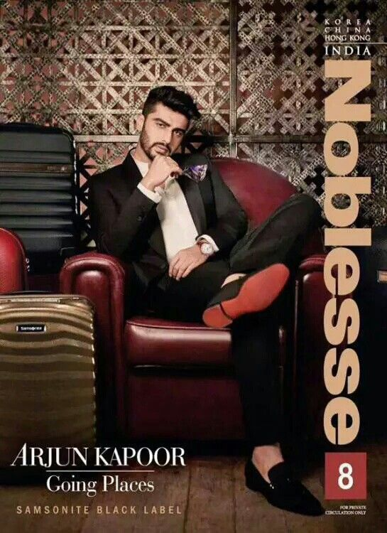 Arjun Kapoor on the Cover Page of Noblesse!