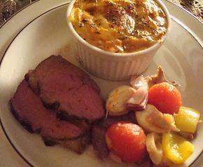 Lammeculotte med hvidløg/rosmarin og små kartoffelgratiner | Loui&Bearnaisen