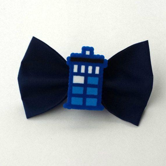 TARDIS cheveux noeud  noeud Tardis  Doctor Who par BurritoPrincess