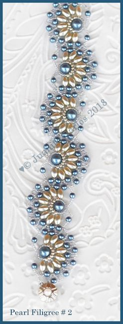 https://www.beadpatternsbyjaycee.com/products/bead-tutorial-pearl-filigree-2-bracelet-netting-stitch This gorgeous ...