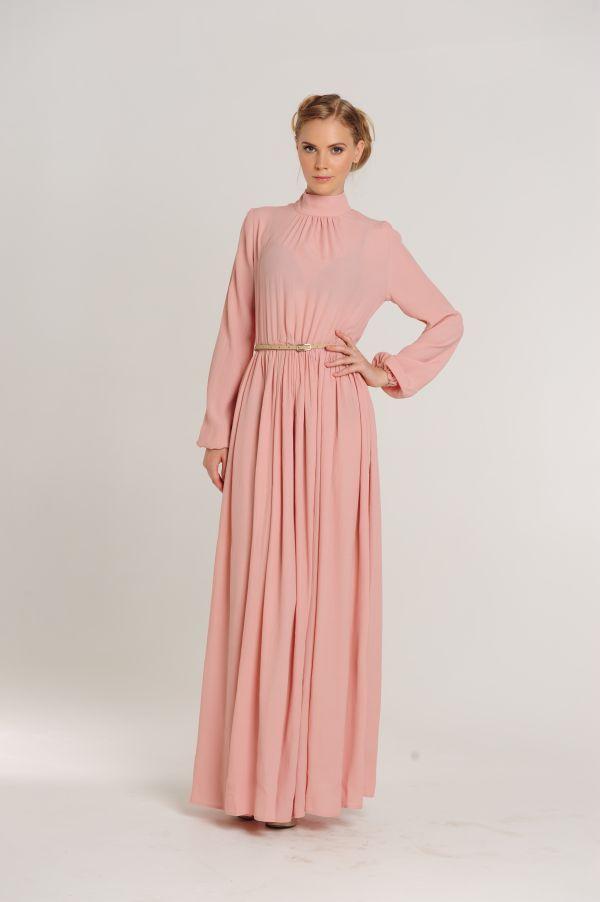 2014 моде розовый ботинки платья ёенщин платье макси платье с длинным рукавом кружева вечернее платье