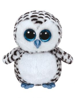 TY Beanie Boos - LUCY the Black and White Owl - Glitter Eyes - 6 inch
