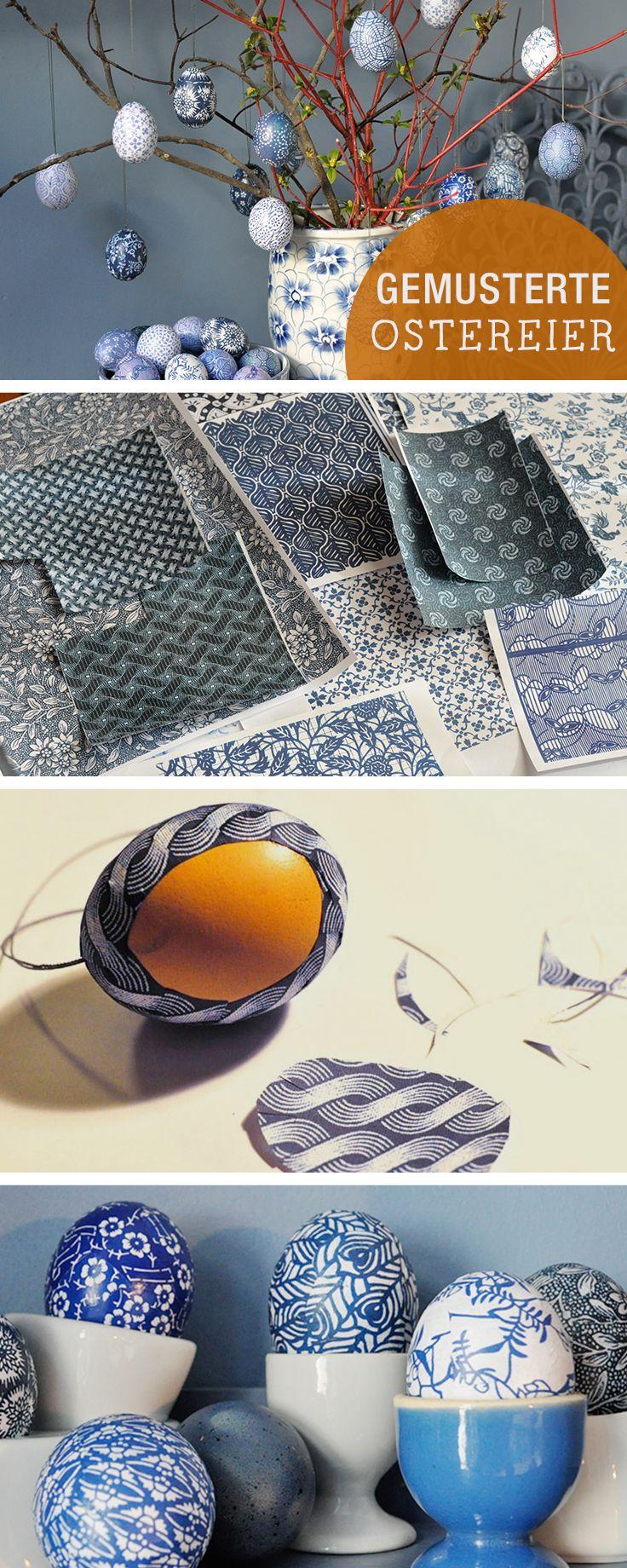 DIY-Anleitung: Gemusterte Ostereier mit Papier herstellen, sorbische Ostereier / diy tutorial: craft coloured easte eggs with different pattern via DaWanda.com