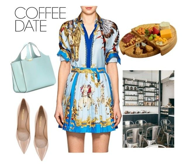 """""""18.02.10"""" by chicwomens on Polyvore featuring Versace, Yves Saint Laurent, Victoria Beckham, Coffee Shop, Picnic at Ascot, versace, CoffeeDate and casualyetstylish"""