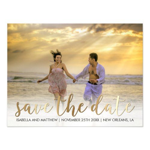 Make It Yourself   Bronze Save The Date Picture Magnetic Card