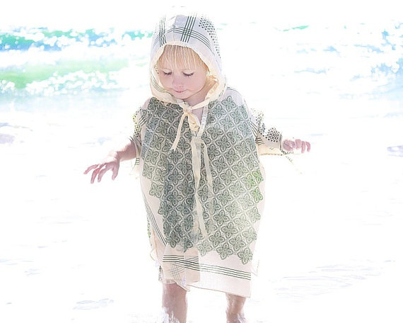Toddler. SunDress. Size 3T. Baby. Sun Protection. Girls. Dress. Long Sleeves. Kimono. Japanese. Cotton. Made in Canada. $44.86