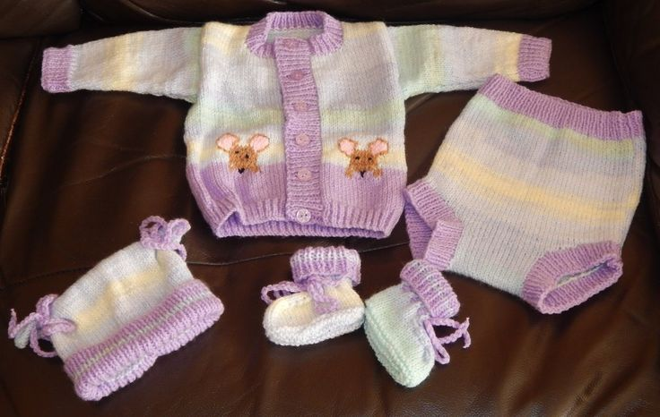 Lilac randoms mouse set from a pattern by Tiina Hoddy