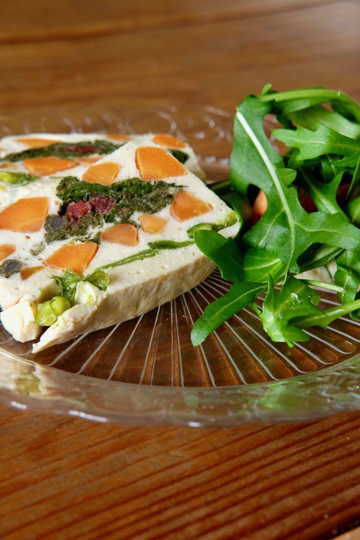 Terrina de verduras / vegetable terrine #fondodenevera #terrine #vegetable