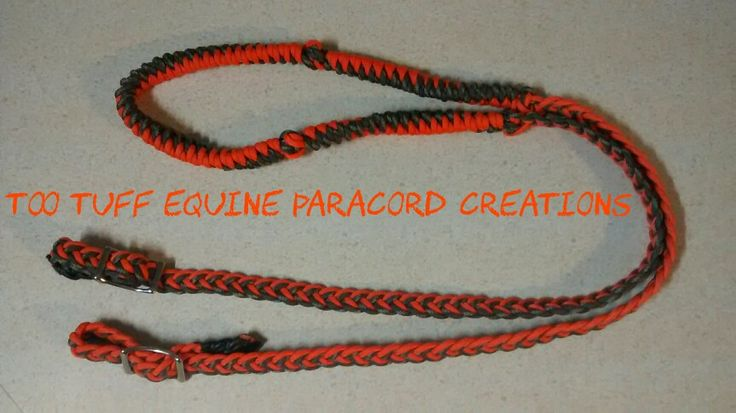 Neon orange with camo reins 25 too tuff paracord for Paracord horse bridle