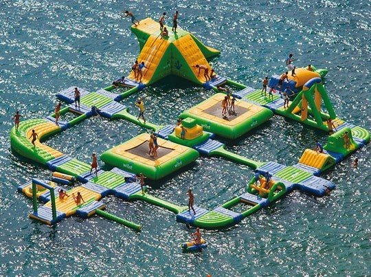 how do i get one of these?!?!Lakes House, Obstacle Course, Dreams, Water Fun, Awesome, Summer Fun, Water Parks, Summerfun, Playgrounds