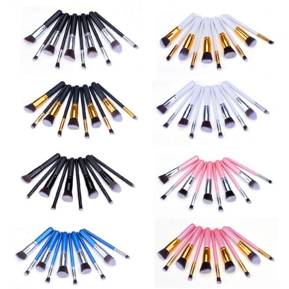 The length of Short handle brush :15.5cm Colors: Black, Blue, Pink, White, Silver, Gold, Pink + Silver, White + Gold Taper type Face Brush Round Face Brush Round Angled Face Brush Flat Foundation Face Brush The length of Long handle brush :18cm Small Taper Eye Brush Small Round Eye Brush Small Flat Eye Brush Small Angled Eye Brush It's Fashion, Vintage, Creative, is a  very useful accessory brighten up your look, also as a gift. Note: Due to the difference between different monitors, the…