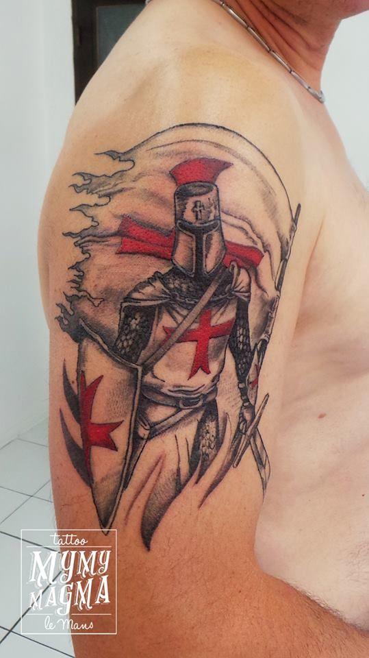 Tatouage Templier. #mymymagma #tattoo #tatouagelemans ...