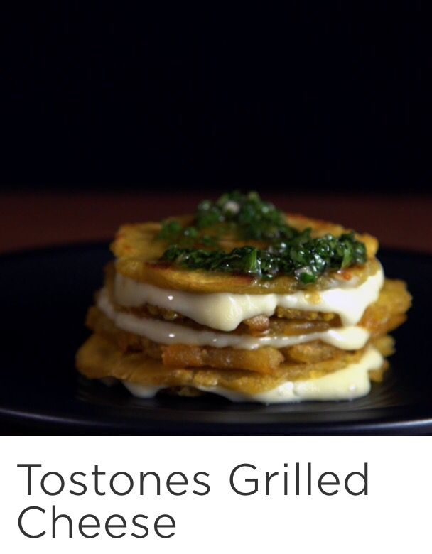 Tostones Grilled Cheese