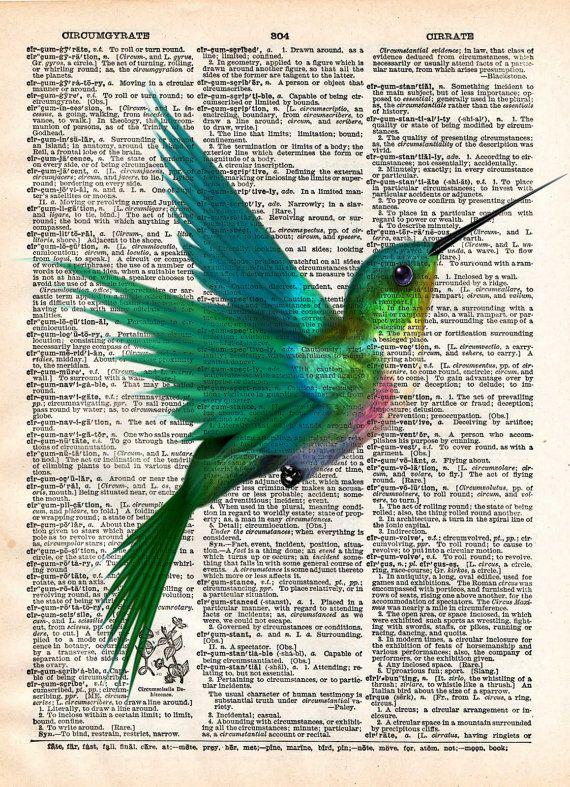 Art de Colibri imprimé, art de l