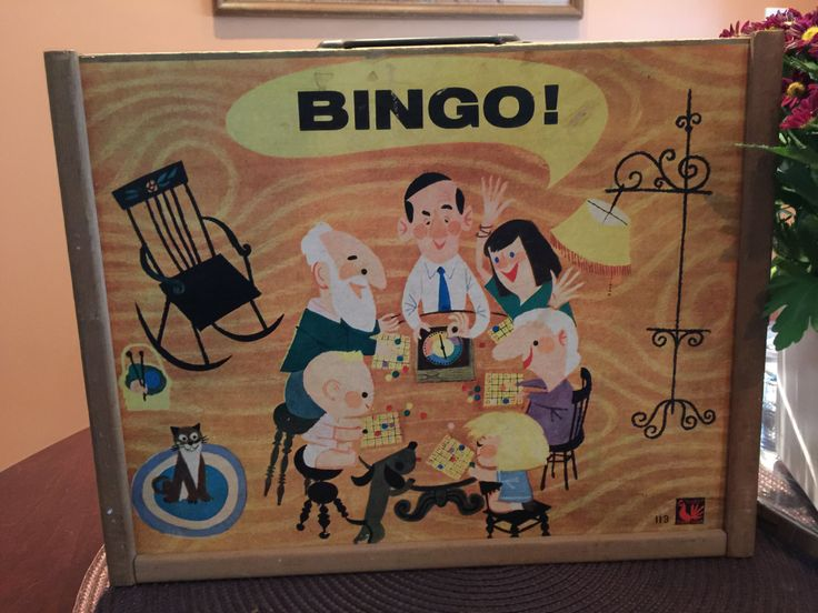 Vintage Bingo Game, Tucket Toy Corp, Wood Case, Spinner, 1950s midcentury toy, Game pieces, Bingo cards by Duckwells on Etsy