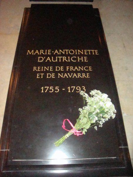 Marie Antoinette's grave at Basilica of St Denis