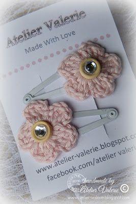 """"""" Little Treasures """" haarspeld accessoires voor kleine meisjes.  De applicaties zijn ook te maken in een andere kleurtje.   Voor info stuur ..."""