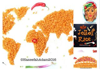 Jollof rice facts :10 Sizzling truths about the Queen of foodthe Nigerian Jollof rice   Give way the Queeen of food is her all Hail the Nigerian's Jollof rice  1.What started as a mix of different ingredients or concoction is now the world's highly celebrated food  Jollof rice portrayed as a map of the world face of beauty wordplay and a national monument. Art by : Haneefah Adam  2.Any Nigerian party without Jollof rice is a meeting.  No Food like the Nigerian Jollof rice  3. Though we…