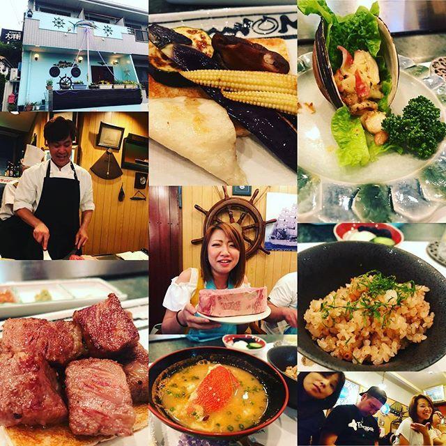 大洋軒さんでディナー✨ 楽しかったなぁ〜 おいしいお料理ありがとうございました! * * 早寝したら2時に目が覚めた(笑) 隣はおはようございます言って即寝してる…釣りの後は出掛けるの大変だね💦おやすみなさい⭐ #東京#tokyo#日野#東豊田#大洋軒#鉄板焼#ディナー#魚#肉#野菜#サラダ#ガーリックライス#カニ#味噌汁#デザート