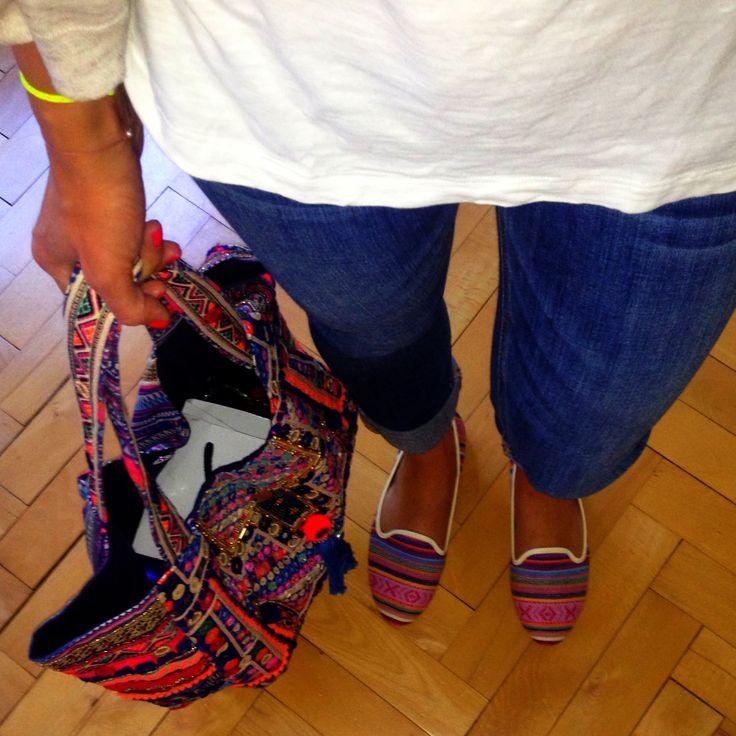 Boho loafers & Boho bag