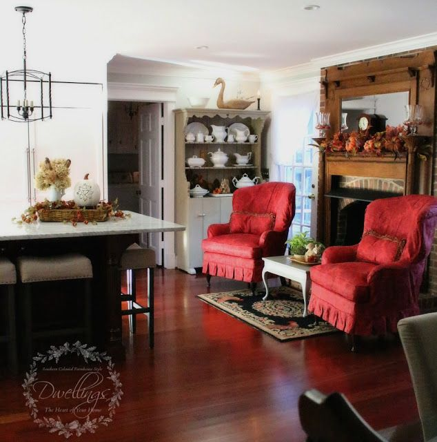 Cozy by the Fire ~ New Hearth Table for the Keeping Room | DWELLINGS-The Heart of Your Home
