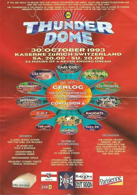 Thunderdome 1993 Zwitserland met O.a Carl Cox