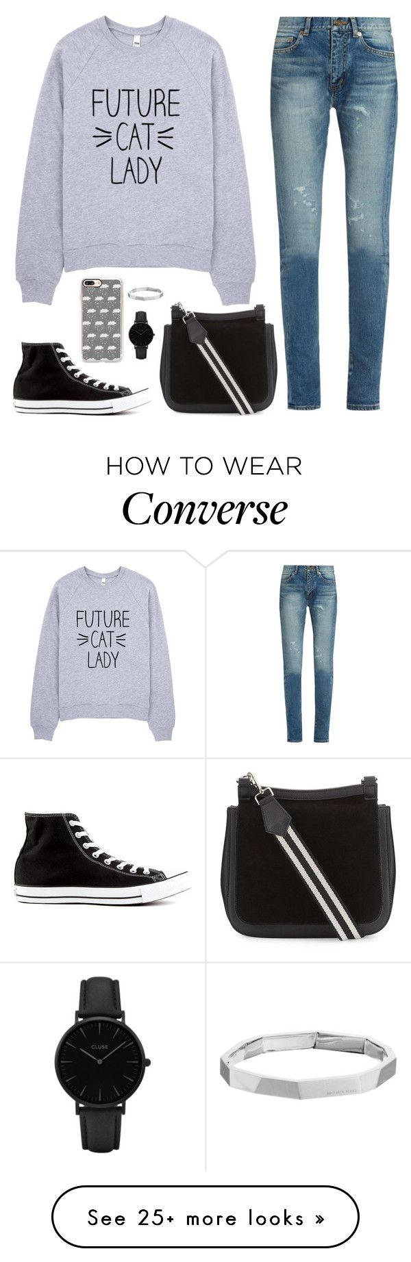 """""""Stay warm"""" by abigaillieb on Polyvore featuring Yves Saint Laurent, Converse, Casetify, CLUSE and Michael Kors"""