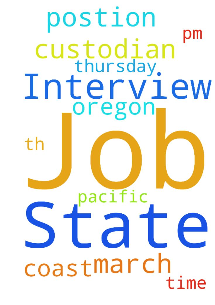 Please Pray For My Job Interview With The State Of - Please Pray For My Job Interview With The State Of Oregon For Postion Of Custodian At 115pm Pacific Coast Time Thursday March 9th, 2017 Thank You... Posted at: https://prayerrequest.com/t/yz4 #pray #prayer #request #prayerrequest