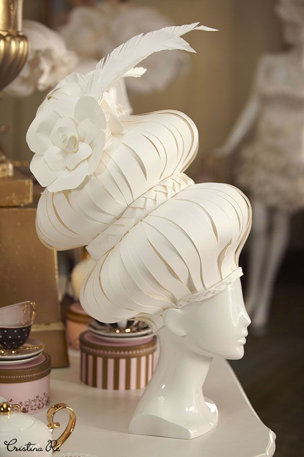 Cristina Re // Paper Fashion Sculptures for Melbourne Spring Fashion Week
