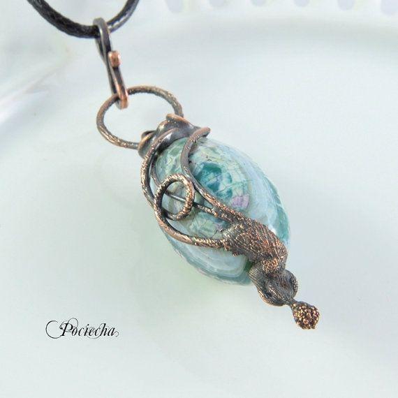 Agate fruit necklace by POCIECHAJEWELRY by POCIECHAjewelry on Etsy